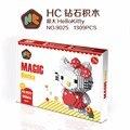 Hc mini hello kitty diy juguetes de construcción de bloques de tamaño grande lindo melody girls regalos del día de san valentín juguetes modelo juguetes 9025-9026