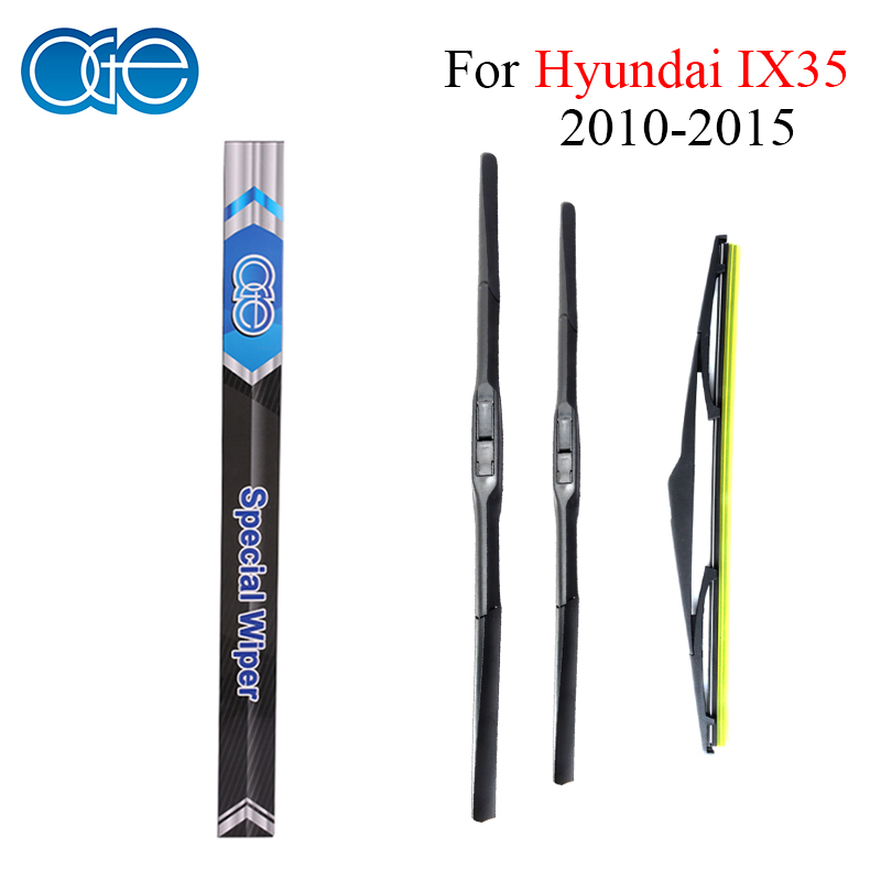 цена на Oge Front And Rear Wiper Blades For Hyundai IX35 2010 2011 2012 2013 2014 2015 High Quality Rubber Windshield Car Accessories