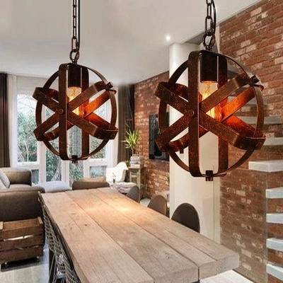 Nordic loft retro cafe bar iron etching lampshade pendant lamp single head bar restaurant industrial wind rust pendant lights restaurant bar cafe pendant lights retro hone lighting lamp industrial wind black cage loft iron lanterns pendant lamps za10