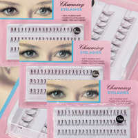 10packs 8 10 12 Mm Individual Lashe Black Natural Fake False Eyelash Long Cluster Extension Makeup