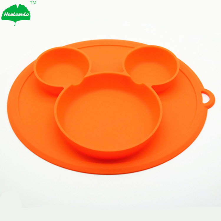 Baby Silicone Dining Plates Lunch Tableware Fruit Tray Baby Kids Feeding Bowl Baby Cups, Dishes & Utensils