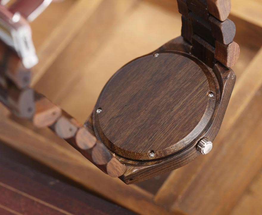 Walnut Wood Watch Men Natural Wooden Watches Male Casual Wristwatch Brown Clock 9