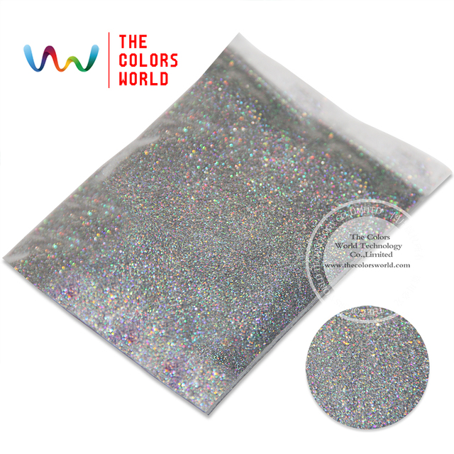 """TCA100  Laser Silver Color 0.1MM 004"""" Glitter dust ,Specular luster glitter for nail,tatto,Art decoration and others"""