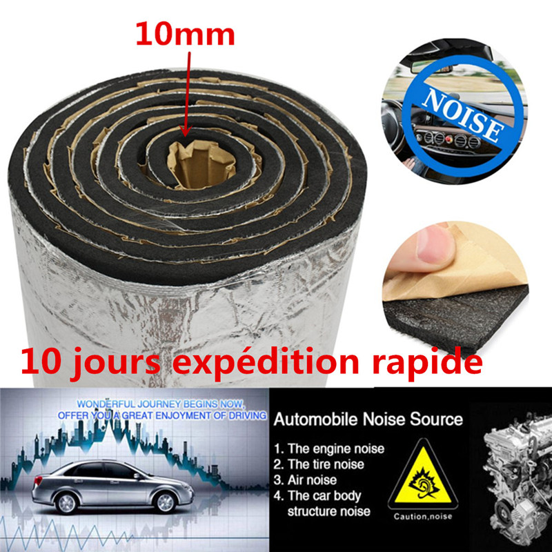 Car Sound Deadener Noise Control Heat Proofing Shield Insulation Mat 10mm 4MX1M Noise Killer Deadener Mat Underlay