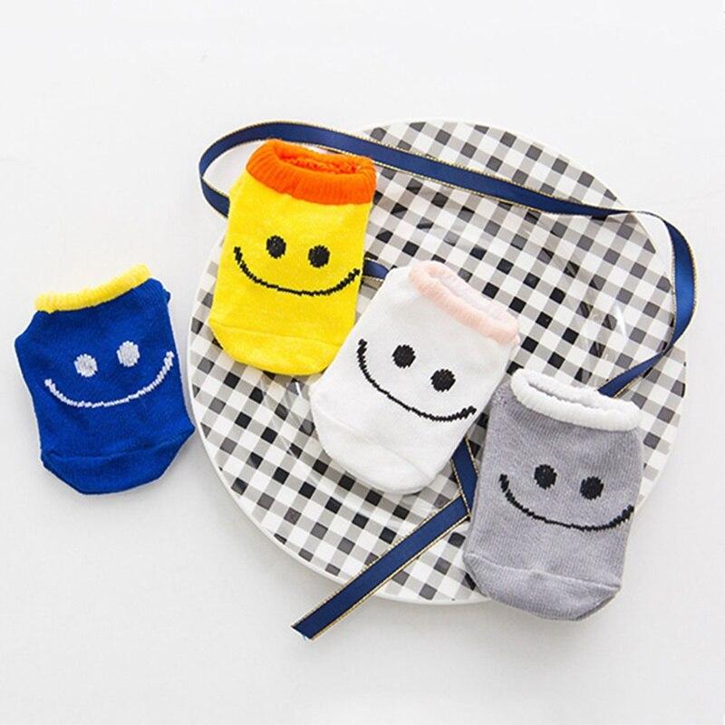 1 Paar Baby Cartoon Tier Socken Boden Kinder Kinder Nette Lächeln Infant Baumwolle Anti-skid Kleinkinder Hausschuhe Socken Gestreiften