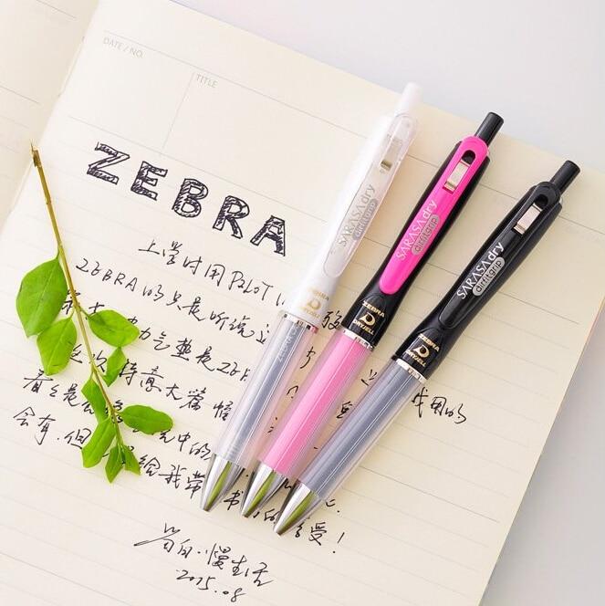 Zebra quick-drying anti-fatigue gel pen with soft rubber air cushion high quality airfit grip super smooth gel pen jianwu 10pcs set japan zebra jf 0 5 gel pen refill quick drying refill apply to jjz15 jj2 jj9