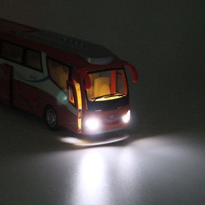 Image 3 - 1:32 דגמי מכוניות סגסוגת, סימולציה גבוהה עיר אוטובוס, diecasts מתכת, צעצוע של כלי רכב, למשוך בחזרה & מהבהב מוסיקלי, משלוח חינם