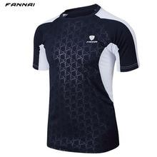 Мужская брендовая теннисная рубашка для спорта на открытом воздухе, бега, тренировок, пробежек, одежда для фитнеса, футболки для мужчин, футболки с коротким рукавом для бадминтона, топы