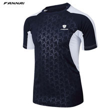 Men Brand Tennis shirt Outdoor sports Running workout jogging clothing Fitness tees male badminton Short sleeve t-shirts tops(China)
