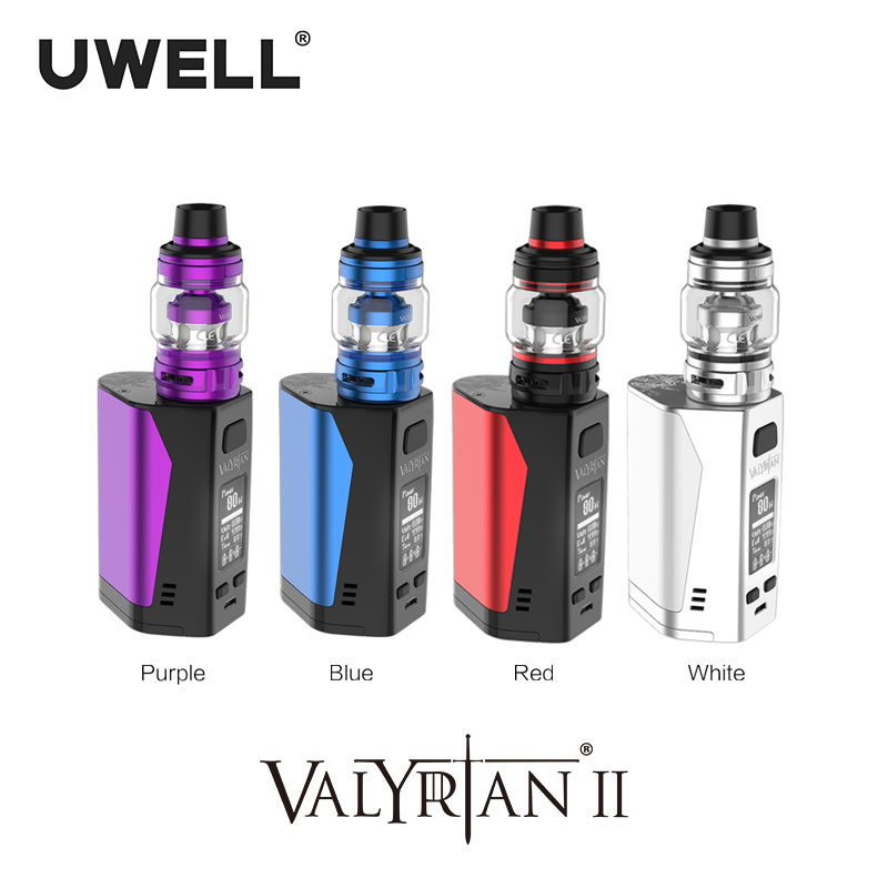 UWELL valyrien II Kit triple 18650 Batteries 300W valyrien II réservoir 6 ml maille bobine électronique Cigarette Vape Kit
