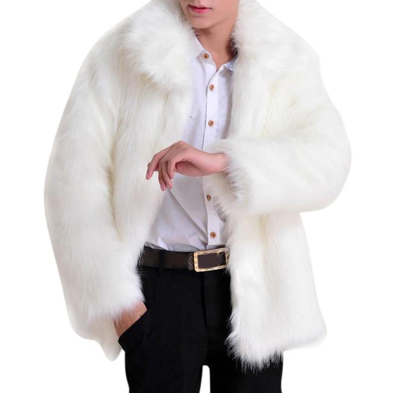 2017 male Faux Fur Fashion Hair Jacket Overcoat Lady Jacket Men's Faux Leather Luxury Jackets Men Parker Luxury Fur Coat Feature