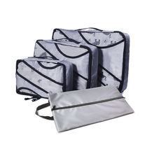 Best Packing Cubes Set Travel Luggage Organizers Suitcase Travel Accessories(Grey)(Green) Overnight Bag Duffle Bags Weekend Bag bagsmart 7 pcs set packing cubes travel luggage packing organizers unisex weekend luggage bag travel organizers with laundry bag