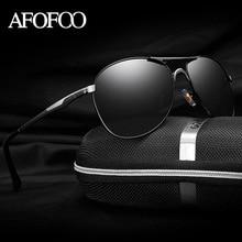 AFOFOO Men HD Polarized Sunglasses Classic Brand Designer Men's Driving Sun glasses Mirror UV400 Male Shades Eyewear For Mens