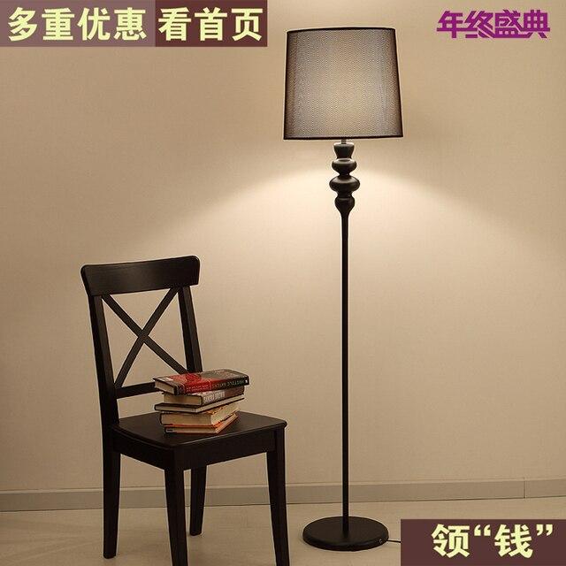 Günstige IKEA Stehlampe Minimalistische Moderne Kreative Schwarz  Schmiedeeisen Farbe Die Wohnzimmer Schlafzimmer Esszimmer Den