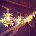 10m 100LED Snowflakes String Fairy light for Christmas Holiday Decorating wedding room