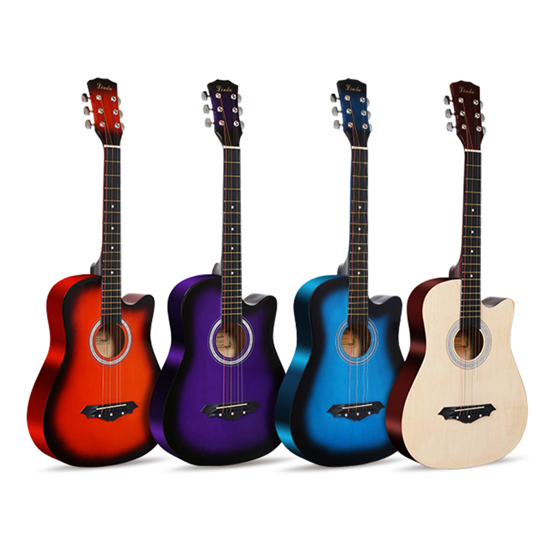 Free shipping 38 Inch Beginner Introduction Ballad telecaster acoustic guitar china chibson musical instruments professional sg