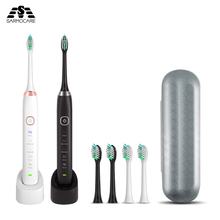 Sarmocare S100 Ultrasonic Sonic Electric Toothbrush LED indicator toothbrushes IPX7 Waterproof 5 models Wireless rechargeable цена и фото