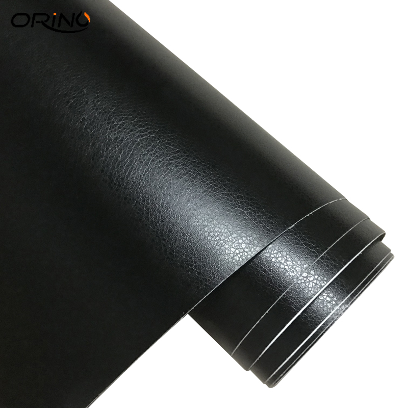 Image 4 - Black Leather Grain Texture Vinyl Car Wrap Sticker Decal Film Sheet Adhesive Sticker Interior Car Styling Covering Wrapping-in Car Stickers from Automobiles & Motorcycles