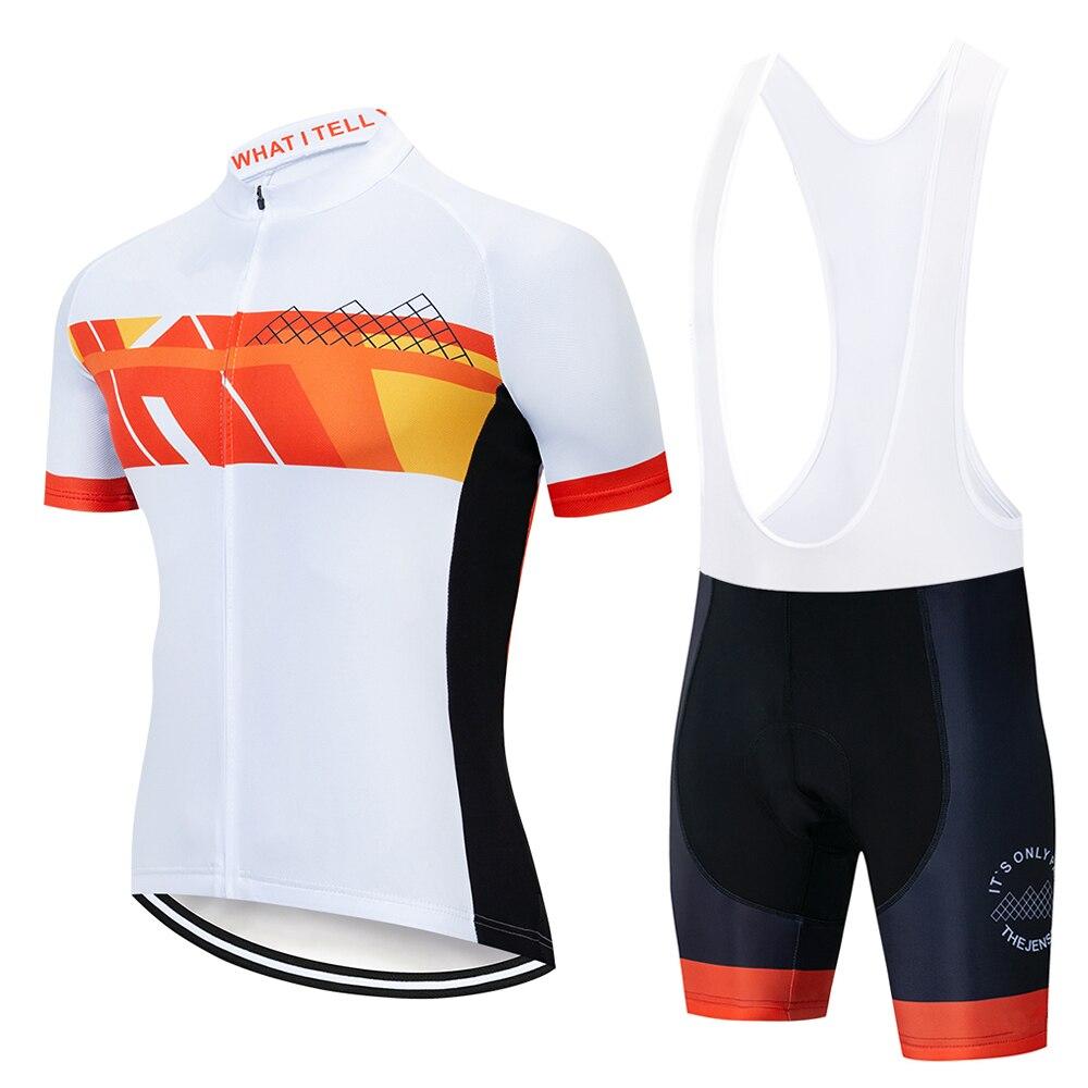 Spor ve Eğlence'ten Bisiklet Takımları'de SUSHAN 2019 Pro Bisiklet Giyim Bisiklet Setleri Bisiklet üniforma Yaz Erkek Bisiklet Jersey Seti Yol Bisiklet Formaları MTB Bisiklet Giyim title=