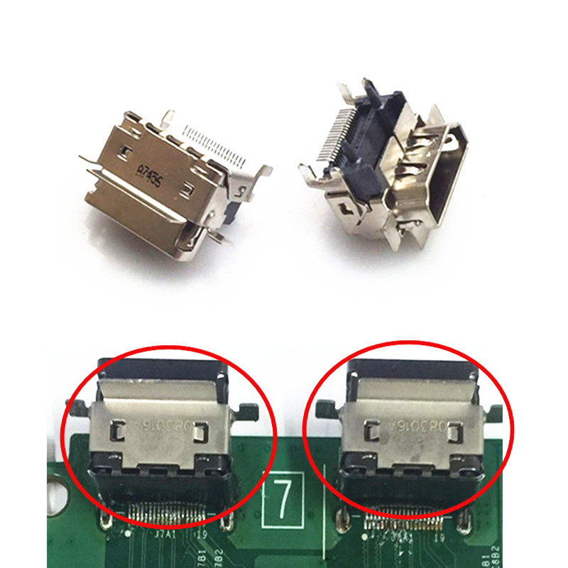 For Xbox one Slim New 1080P HDMI Socket Interface Port Replacement Parts for XBOX ONE S Motherboard Repair Part