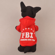 Winter Dog Clothes Pet Cat Warm Cotton Hoodie Coat Puppy Sweater FBI Costume Autumn Suit Clothes for Dogs