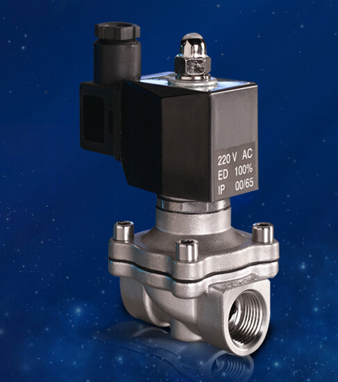 3/8 Stainless Steel Electric solenoid valve Normally Closed IP65 Square coil water solenoid valve