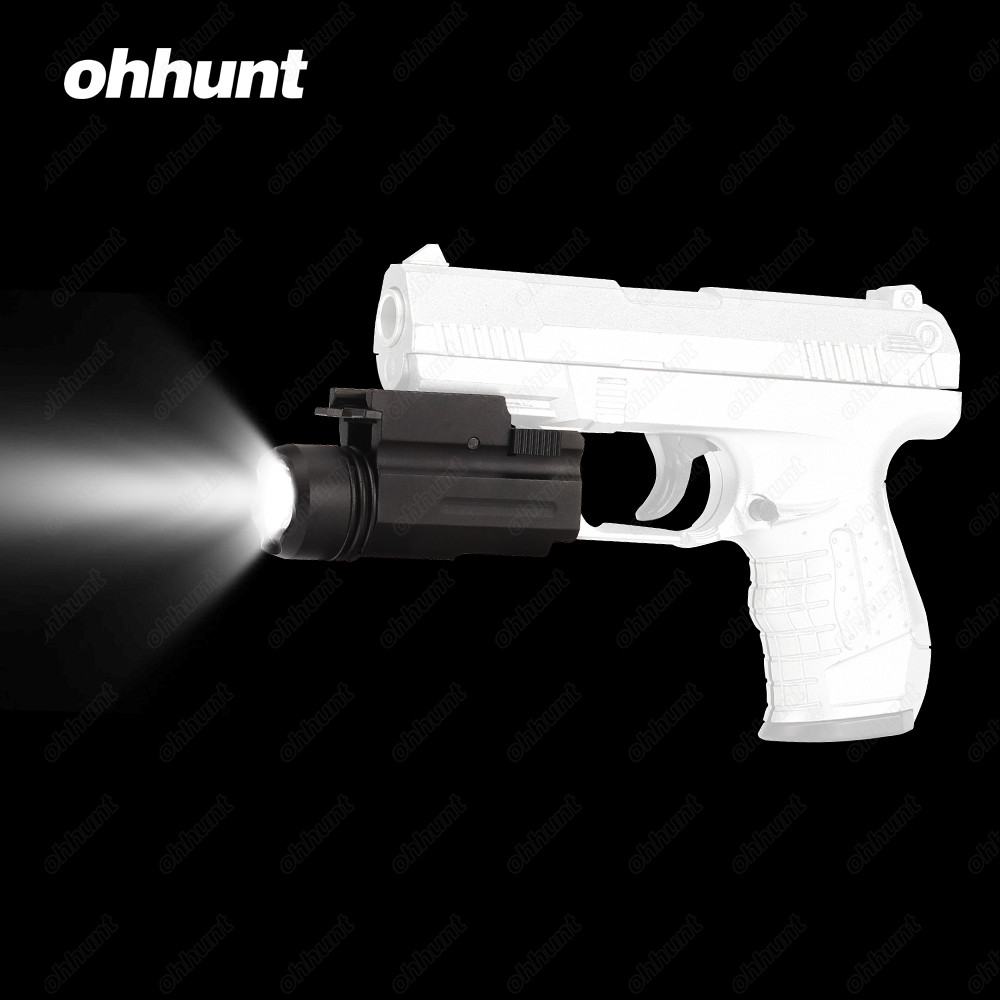 ohhunt 200 Lumens White Light Tactical LED Flashlight Quick Release Weaver Picatinny Mount For Hunting Shooting Clearance Sale