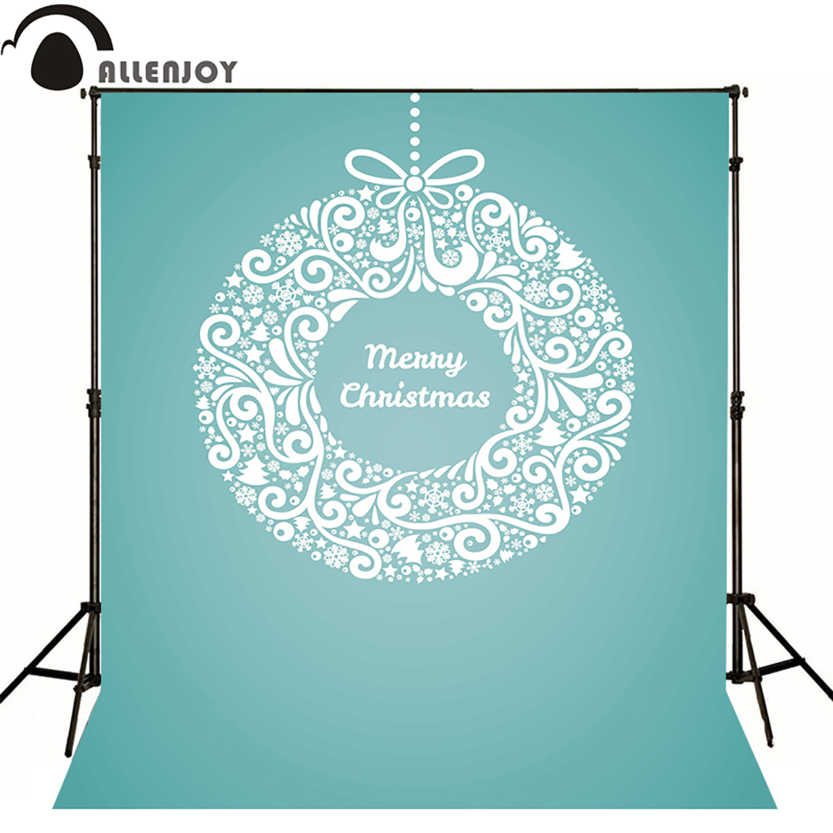 Allen joy christmas photography backdrops floral ball bauble gifts green tree newborn baby shower Discount sale happy cute