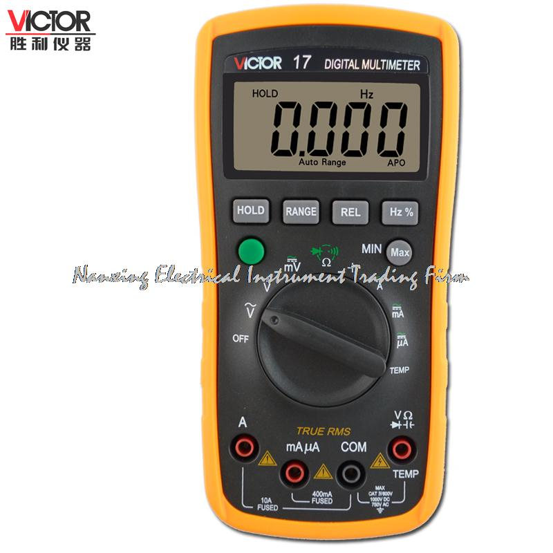 Fast arrival VC17 Digital AC / DC Multimeter VICTOR 17 Mini Portable Handheld Multimeter handheld large screen multimeter lcd display accurate detection digital multimeter victor 88b