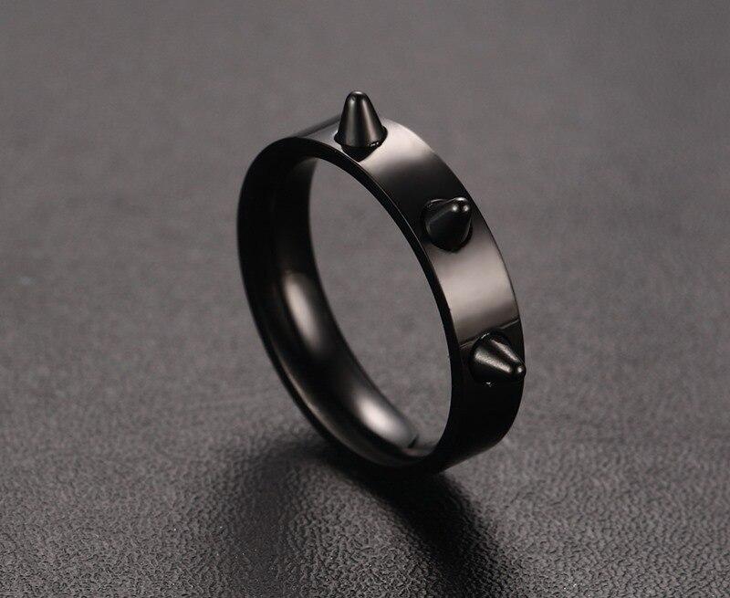 Rose Gold Men's Punk Style Ring