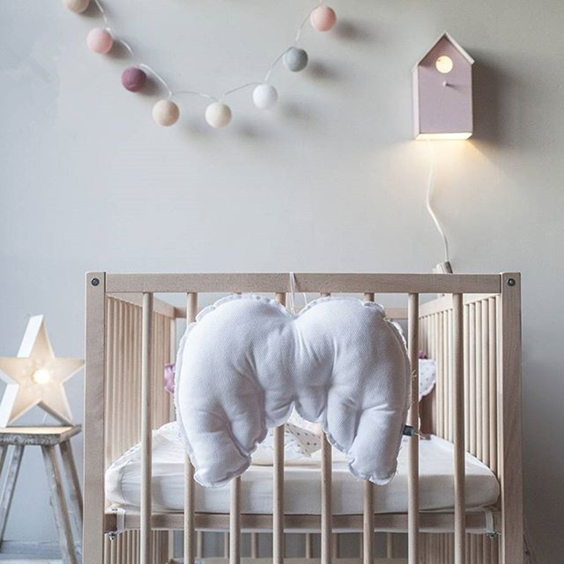 Baby Angel Wings Pillow Dolls Children Back Crib Toys Cute Tent Hanging Nursery Home Decoration Photography Props In Stuffed Plush Animals From
