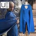 Película juego de tronos daenerys targaryen cosplay blue dress capa a song of ice and fire ropa cosplay película