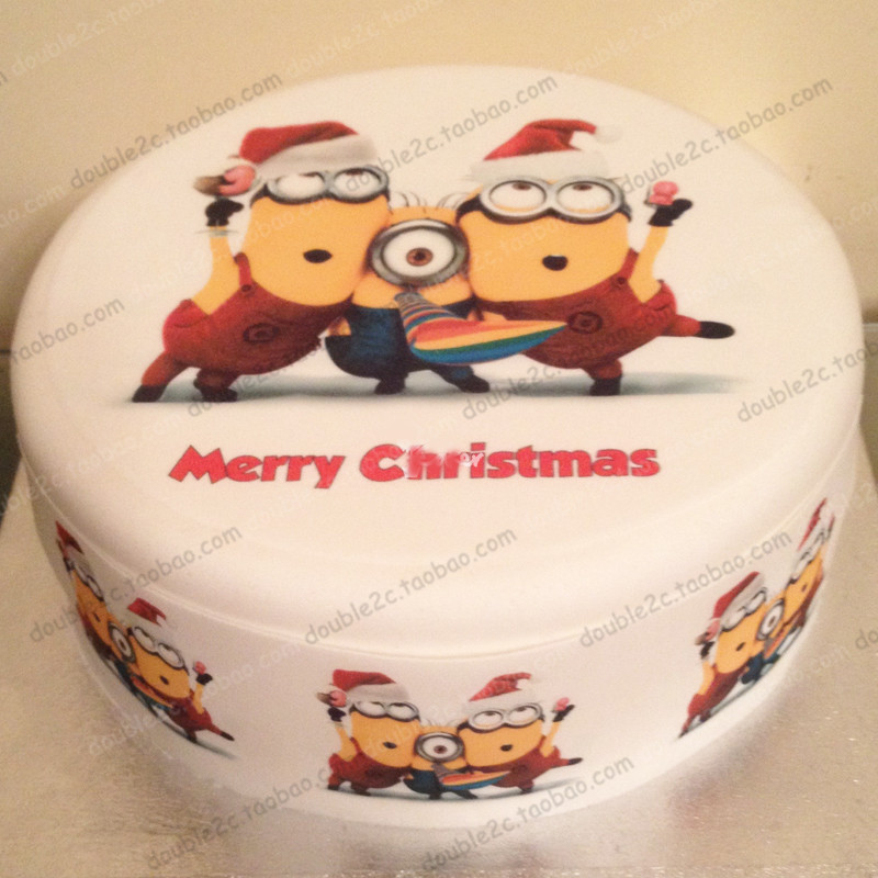 wafer paper for cake minionschristmas minions7pcsset 1pc 8 6pcs 2edible christmas decorations for the cake in other cake tools from home garden