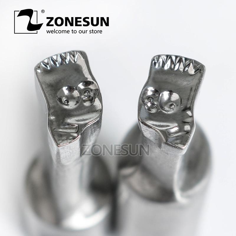 ZONESUN Cartoon logo custom candy milk tablet slice die Stamp precision punch die mold sugar tablet press tool TDP 0/1.5/3/5 цены