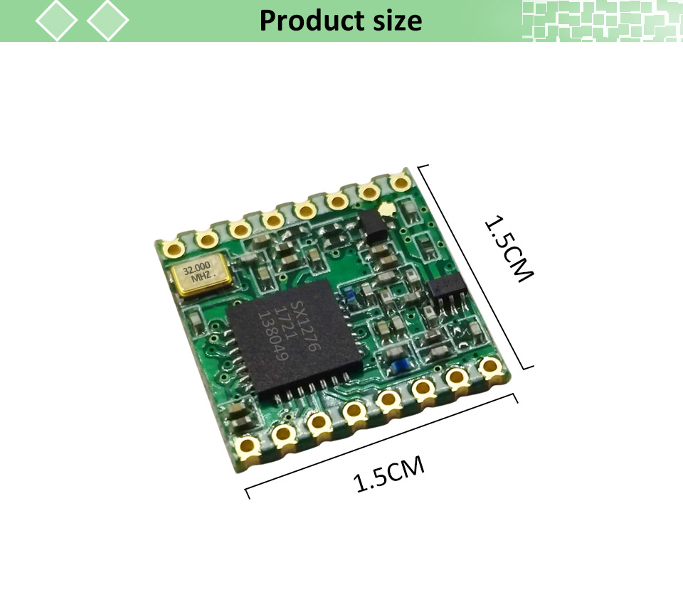 LoRa module lorawan transceiver 2pcs RF SX1276 868MHZ radio comunicador 915MHZ  alcance communication Receiver and Transmitter