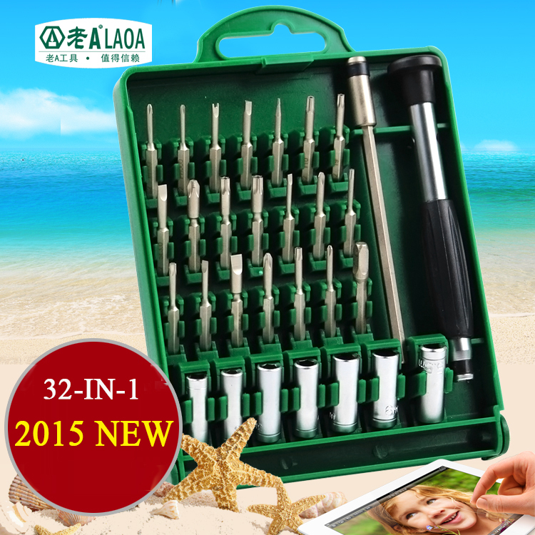 Brand 32 In 1 Screwdriver Sets High Quality S2 Alloy Steel Repair Kit Precision for Home Appliance Hand Tools Leather Hand Tools high quality 6 sets of precision screwdriver page 3