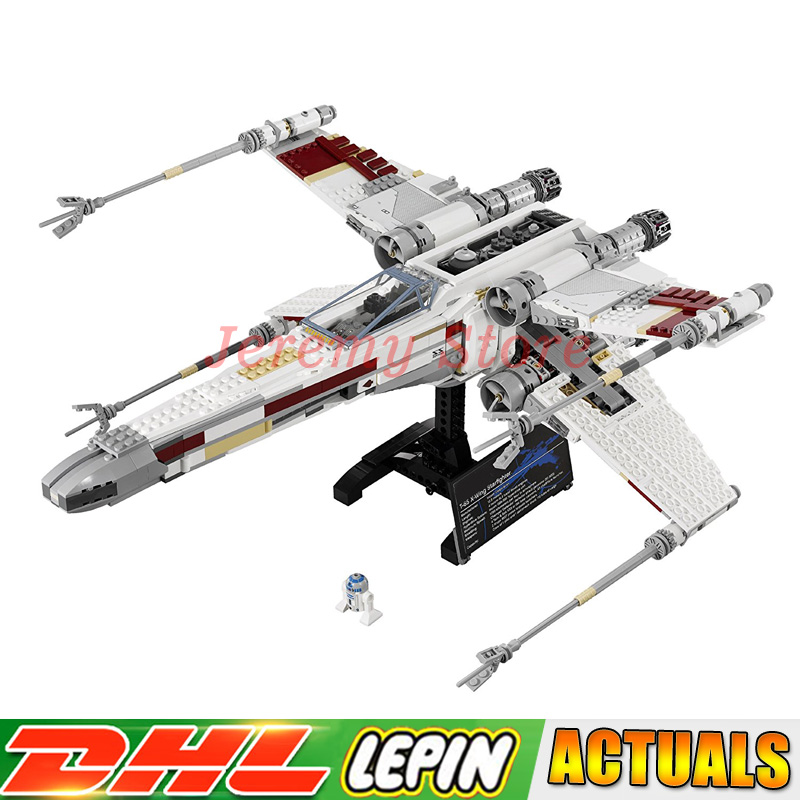 все цены на Lepin 05039 Star Genuine Wars Series The X UCS Wing Red Five Star Toys Fighter Set Building Blocks Bricks DIY Educational 10240