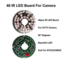 Free Shipping New 48 IR Leds Infrared IR Board for Security CCTV Camera 60 Degrees suit 75 diameter cctv camera IR LED board