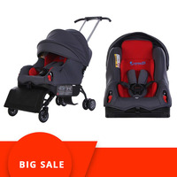 5 In 1 Child Car Safety Seat Baby Car Booster Seat 0 4 Years Sleepable Trolley Sit on Stroll 5 In 1 Baby Car Seat Stroller New