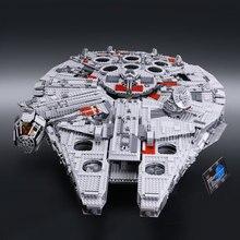 LEPIN 05033 5265 Pcs Star Wars Millennium Falcon de Ultimate Collector Modèle Kit de Construction Blocs Briques Jouet Compatible 10179