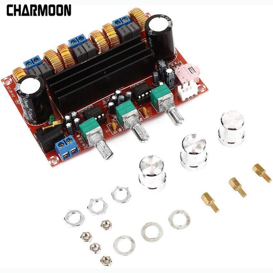 Цифровой аудио усилитель плата XH-HM139 TPA3116D2 сабвуфер динамик усилитель мощности DC12V-24V 2*50 Вт 100 Вт