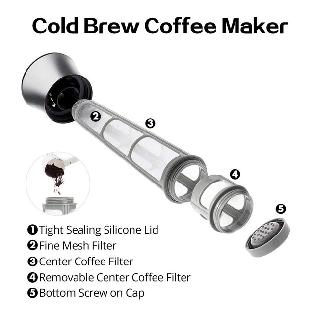 Coffee Maker Pot Mocha Cold Brew Cafetera Filter Coffee Pot Leakproof Thick Glass Tea Infuser Percolator Tool Espresso Maker 2