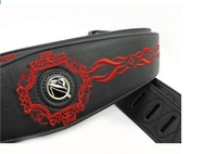 disado leather embroidery guitar strap electric guitar shoulder strap guitar parts black Musical instrument guitar accessories