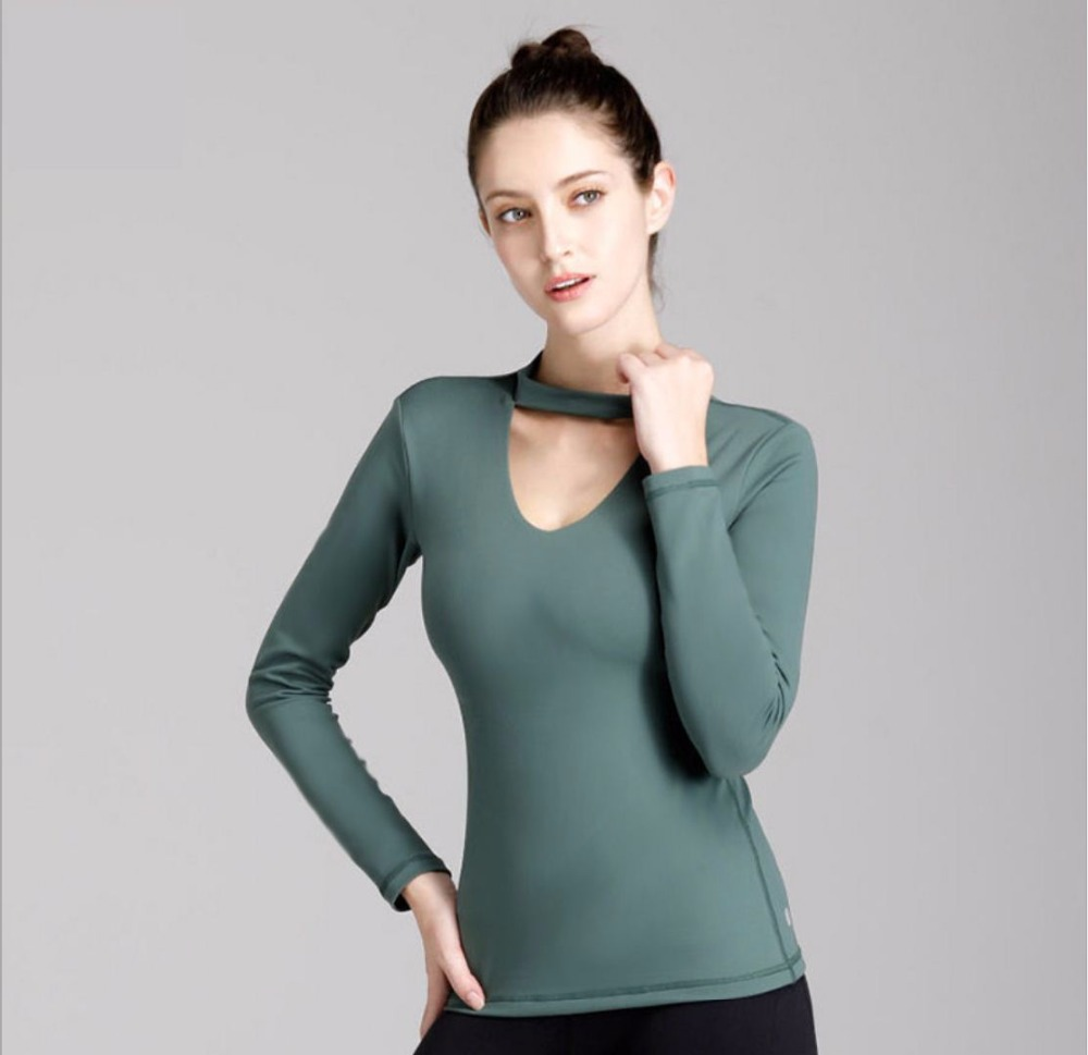 SzBlaze Brand New Womens Wicks Sweat Slim Shirt ladies Spring Solid tshirt Long Sleeve workout vest for exercise and Pilates