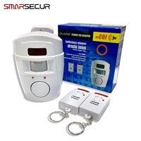Wireless PIR Motion Sensor Alarm 2 Remote Controls Local Alarm Burglar 105db Siren