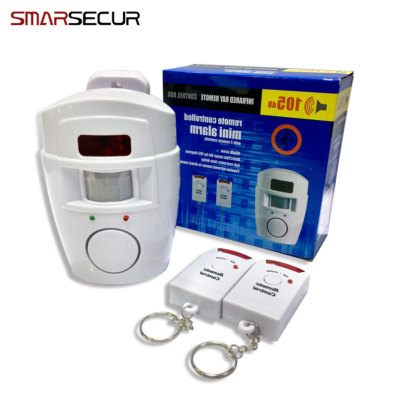 Smarsecu 2 Remote Controller Wireless Home Security PIR Alert Infrared Sensor Alarm system  Motion Detector Alarm Siren