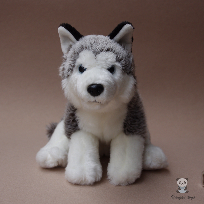 Simulation Dogs Dolls Stuffed  Animal Toy Cut Husky Doll  Children's Toys Plush Gift big toy owl plush doll children s toys simulation stuffed animal gift 28cm