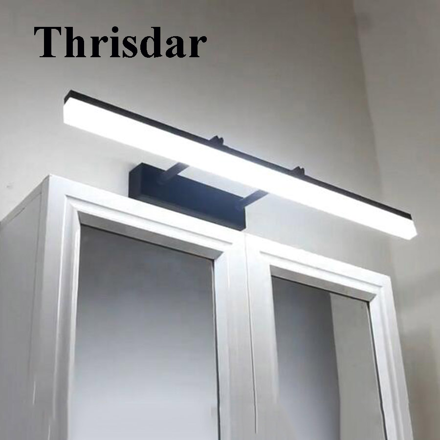 Thrisdar 40CM 50CM Telescopic Bathroom LED Mirror Wall Light Modern Acrylic Anti-fog Make-up Dressing Mirror Cabinet Wall Light zx modern acryl led mirror wall lamp waterproof and anti fog cabinet mirror light bathroom toilet dressing room make up lamp