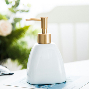 Image 3 - Shower Gel Bottle Hotel Liquid Soap Dispenser Bathroom Portable Ceramics Pump Detergent Sanitizer Bathroom Soap Dispenser