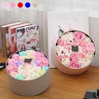 Romantische Hartvormige Rozen Zeep Bloemen Hollow Iron Rose Zeep Bloemen Met Prachtige Dozen Geschenken Voor Bruiloft Decoratie 3
